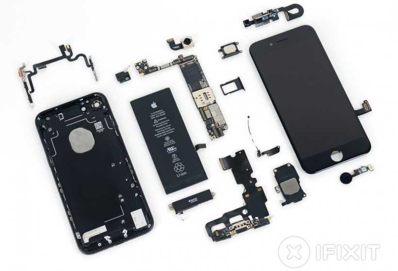 iphone repair. iphone 7 ifixit teardown iphone repair