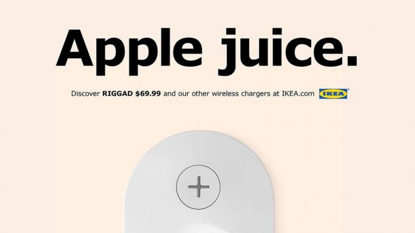 IKEA wireless charging Qi