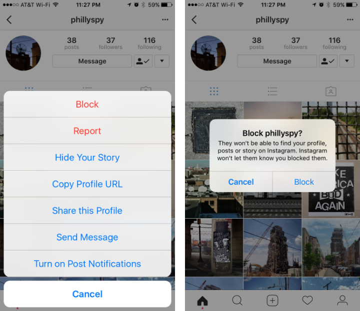 How to block someone on Instagram.