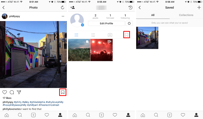 How to save or bookmark posts on Instagram.