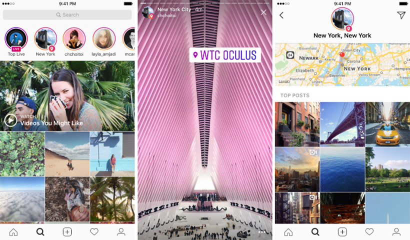 Instagram Explore location stories