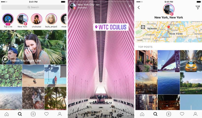 Instagram Explore location stories