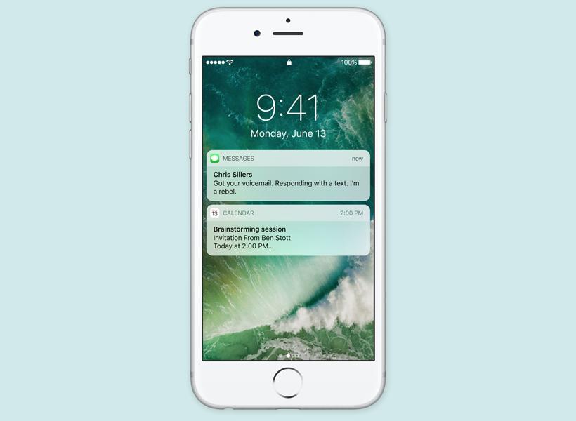 iOS 10 lock screen