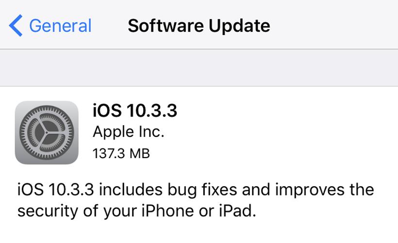 iOS 10.3.3 OTA
