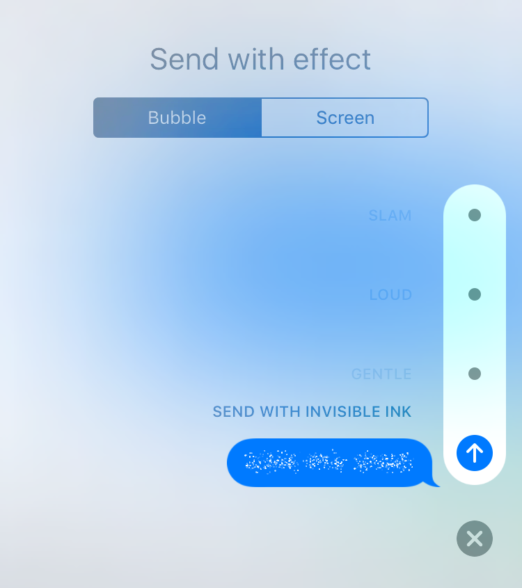 iOS 10 Invisible Ink