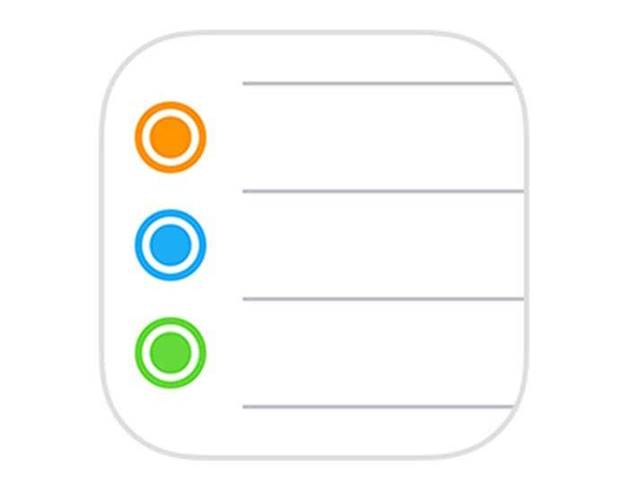Reminders iOS icon