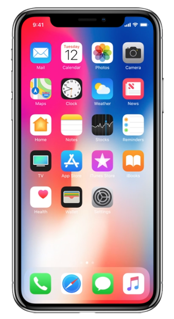 iOS 11 home screen