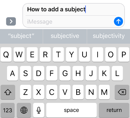 iOS Subject Field