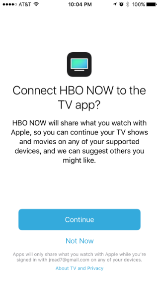 How to link channels to Apple's TV app.