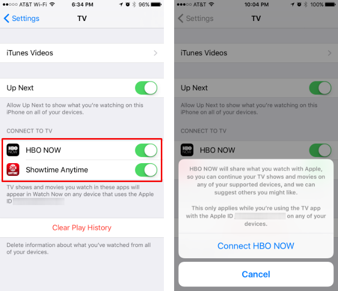 How to link channels to the iOS TV app.