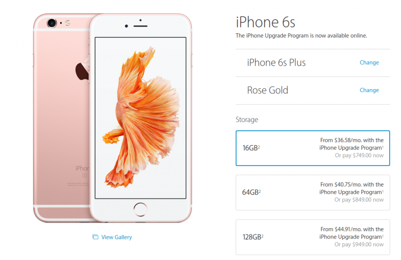 16GB iPhone 6s