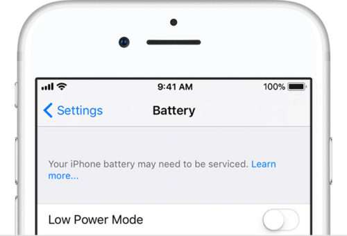 iPhone Battery Warning