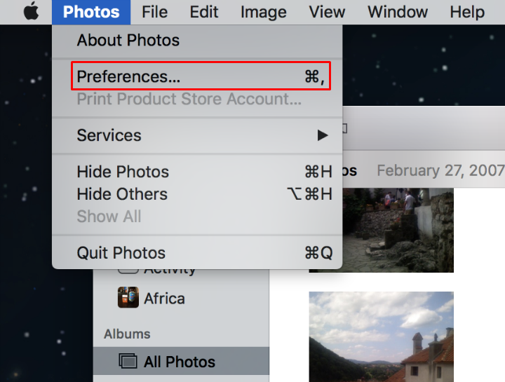 How to turn on iCloud Photo Library on Mac.