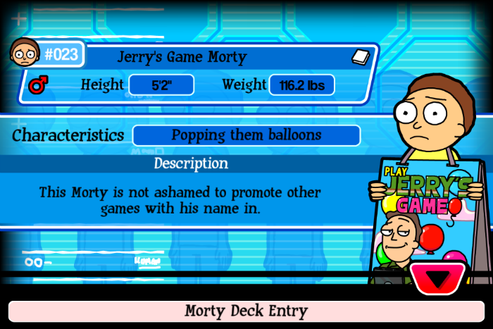 Jerry's Game Morty