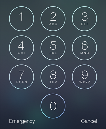 iOS Passcode lock