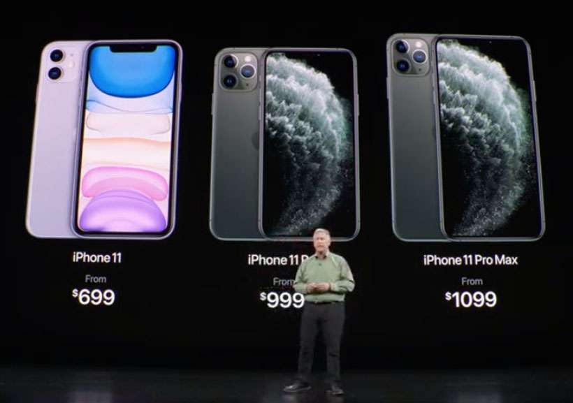 iPhone 11 lineup