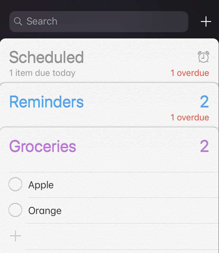 Delete list in Reminders iOS