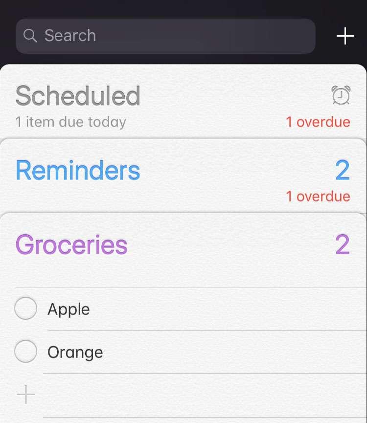 Delete list in Reminders iOS