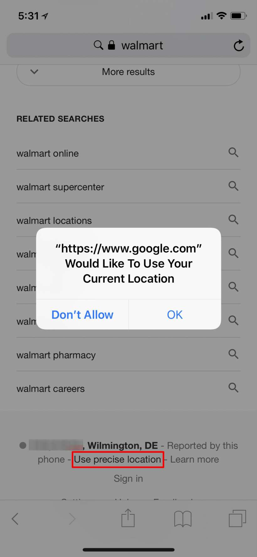 How to stop Google / Safari from asking for your location on iPhone and iPad.