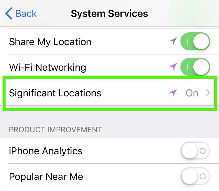 How To Track Where You Ve Been On Your Iphone Step 2