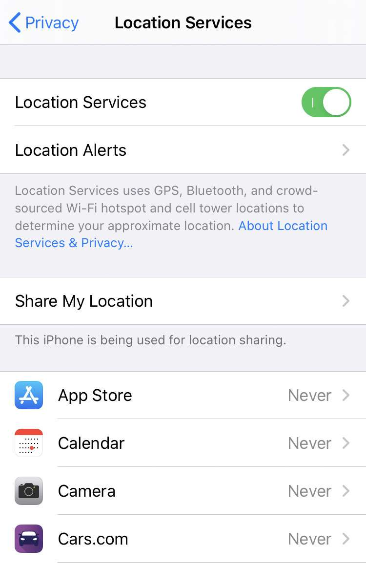 Location Services privacy 3