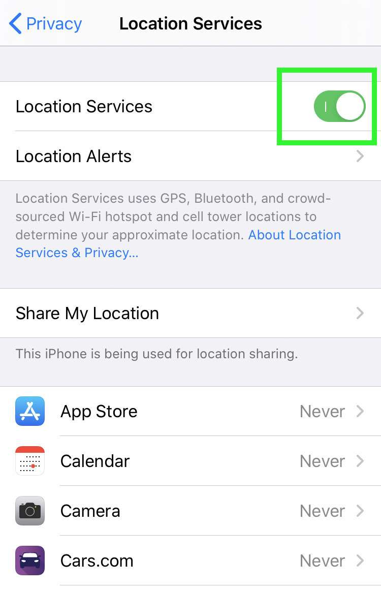 Location Services privacy 4