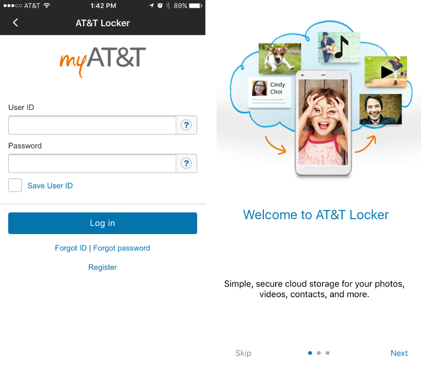 How to use AT&T Locker on iPhone.
