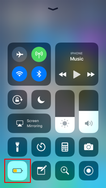 How to turn on Low Power Mode in Control Center on iPhone and iPad in iOS 11.