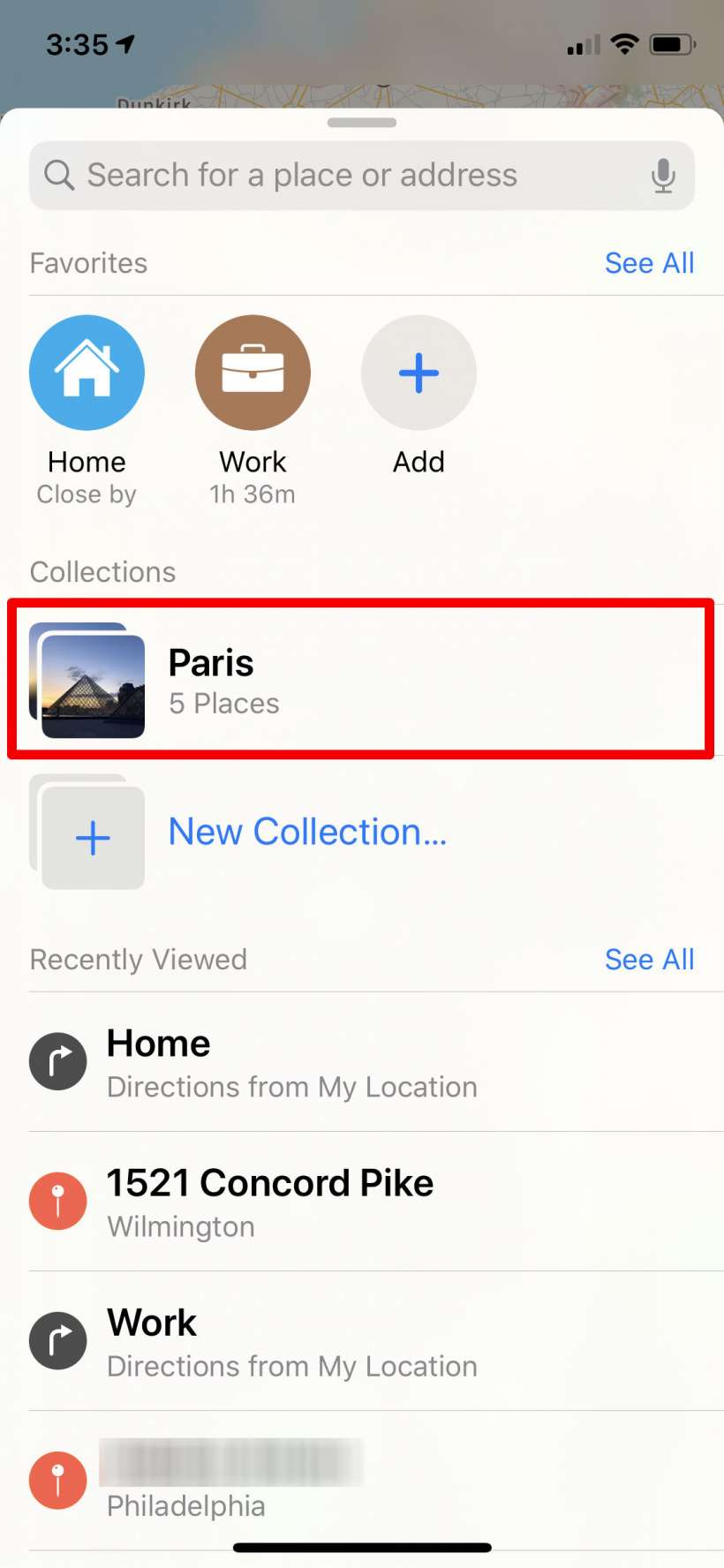 How to set favorite locations and make collections in Apple Maps on iPhone and iPad.