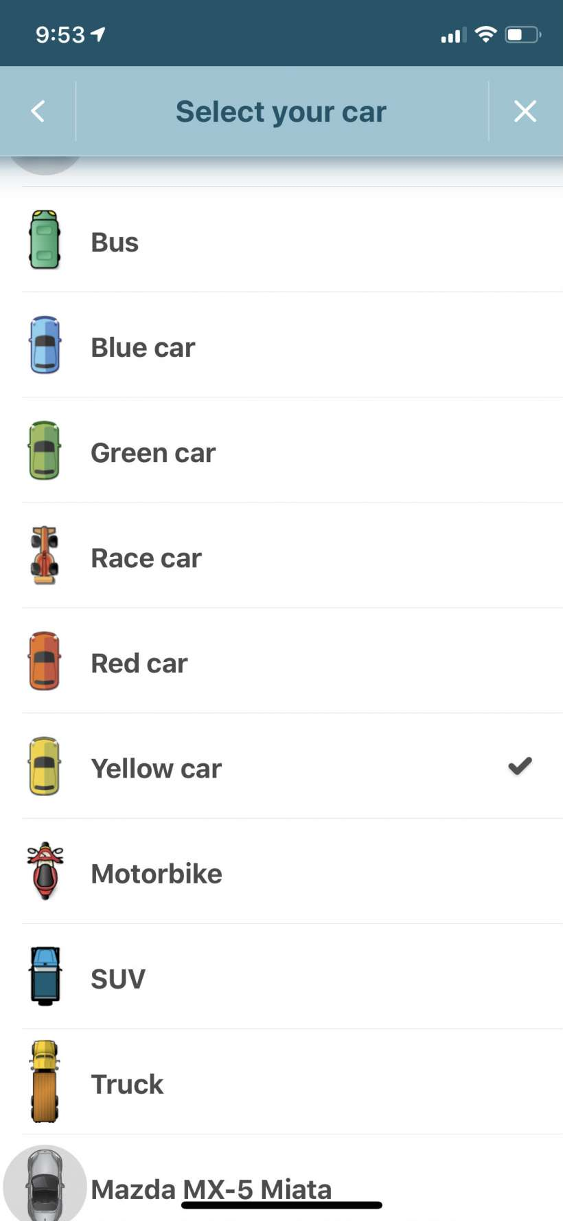 How to change your vehicle icon on Google Maps and Waze on iPhone.