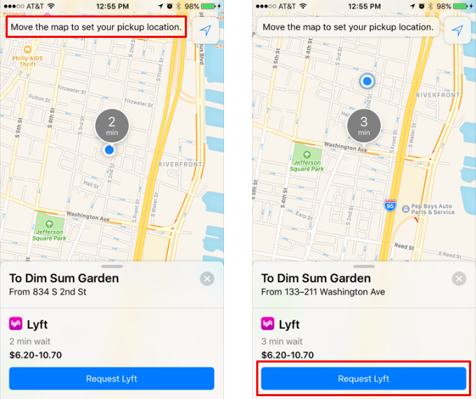 How to use Maps extensions to order a Lyft.