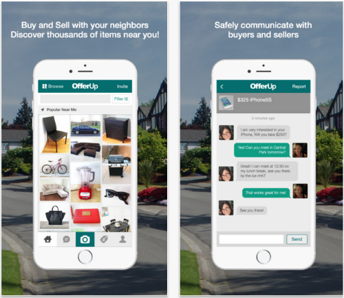 OfferUp mobile marketplace app.