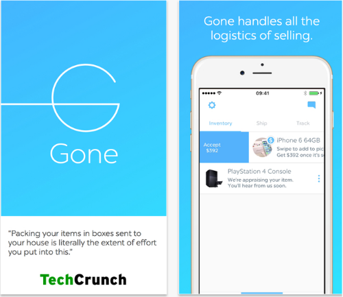 Gone mobile marketplace app.