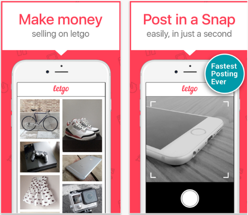 letgo mobile marketplace app.
