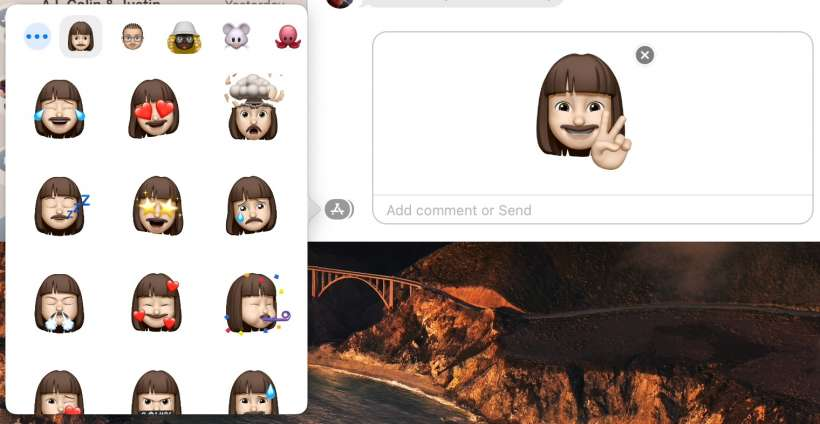 How to create and use Memoji stickers in macOS Big Sur.