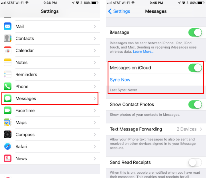 How do i sync my messages to icloud the iphone faq how to sync messages to icloud on iphone and ipad in ios 11 stopboris Gallery