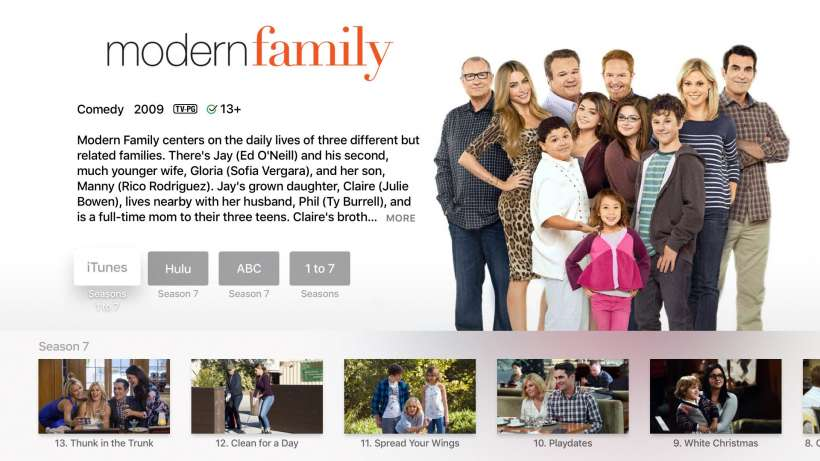 Modern Family Apple TV 4