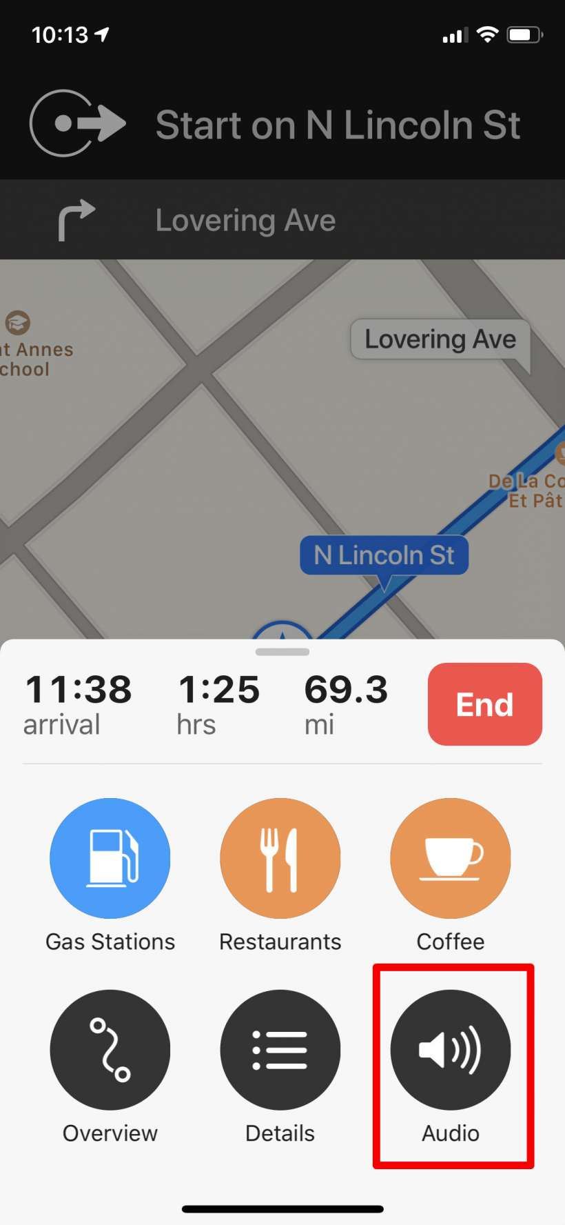 How to turn off turn-by-turn voice directions in Apple Maps on iPhone.