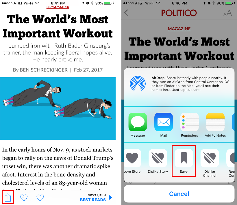How do I save a story in the Apple News app? | The iPhone FAQ