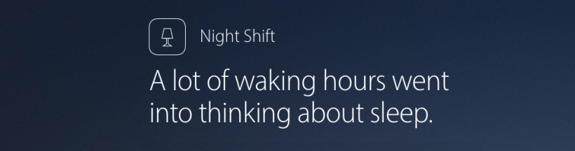 Night Shift iOS 9.3