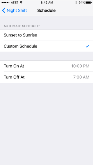 How to use Night Shift in iOS 9.3