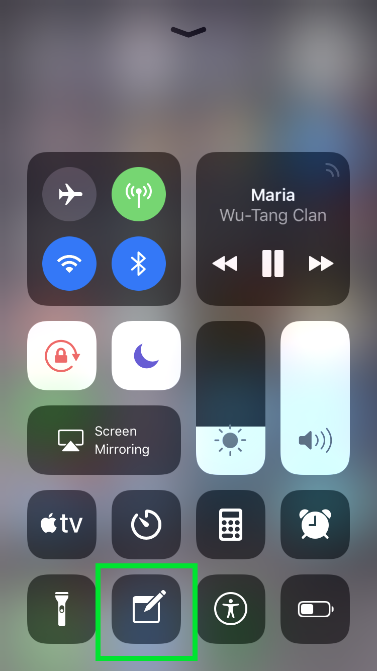 Notes control center Wu-Tang Forever