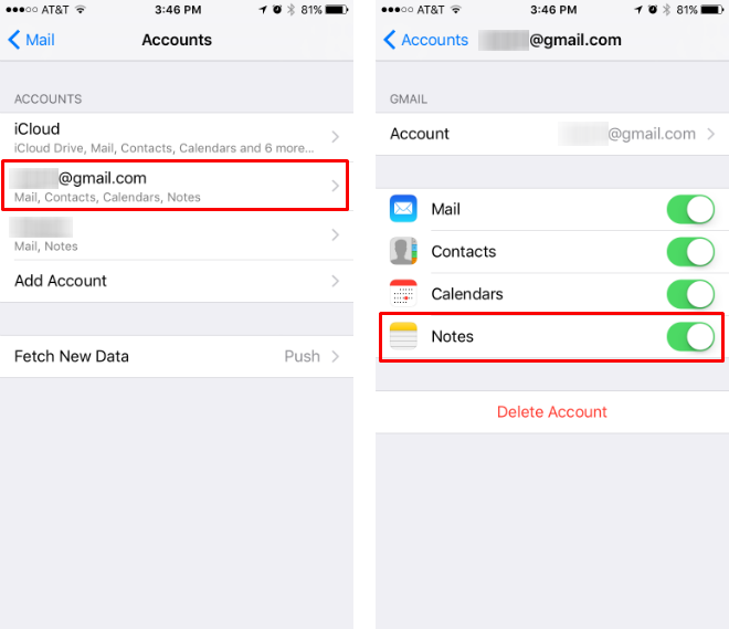 How to sync iPhone Notes with Gmail.