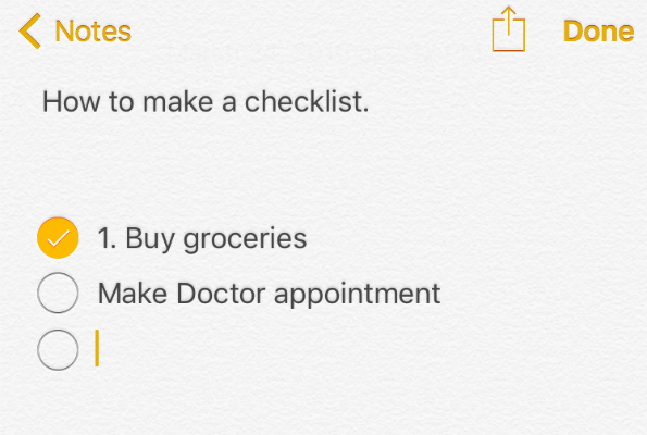 How do I make a checklist in the Notes app? | The iPhone FAQ