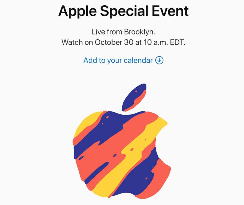 Apple fall 2018 New York event