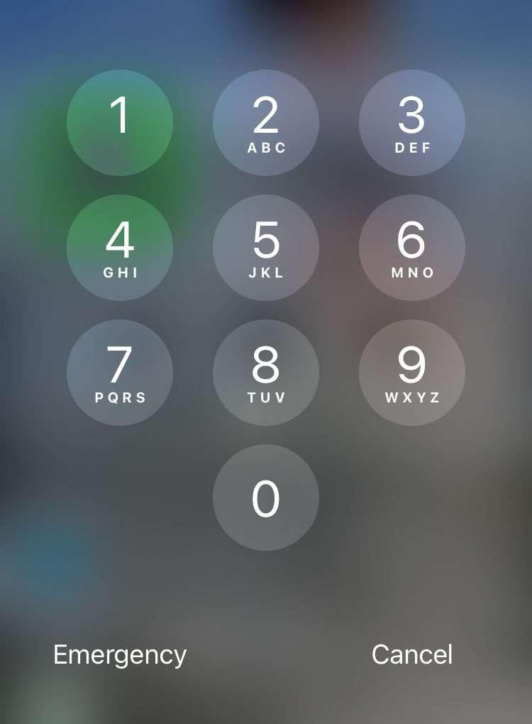 iPhone passcode required