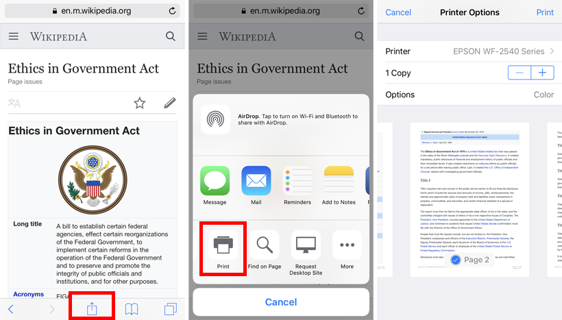 Create a PDF in Safari on iPhone