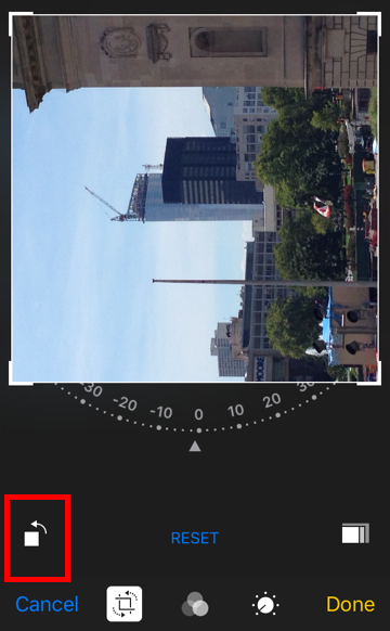 iOS rotate photo camera roll