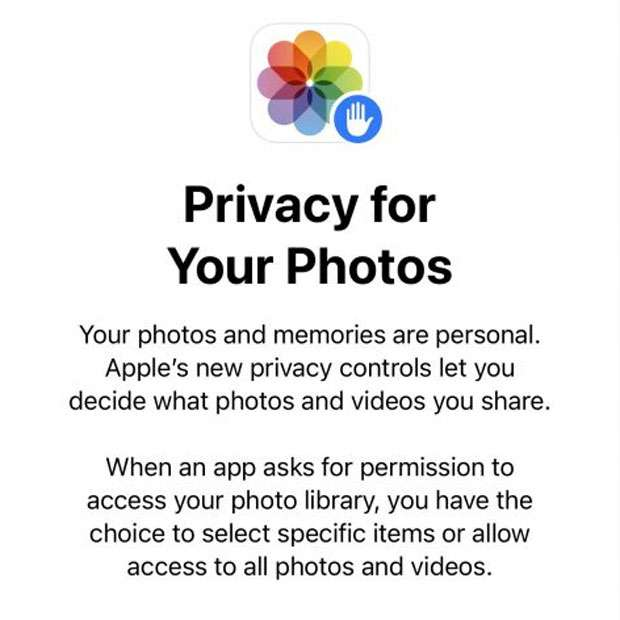 iOS Photo library access