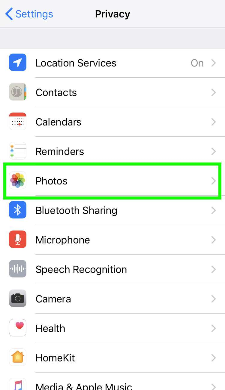 iPhone camera roll privacy 3